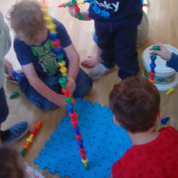 Building Towers at Stanwick Preschool
